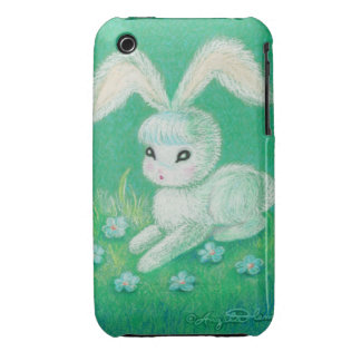 White Bunny Rabbit with Floppy Ears iPhone 3 Case-Mate Cases