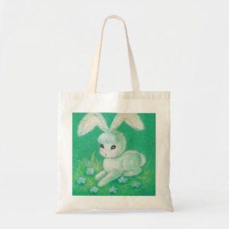 White Bunny Rabbit With Floppy Ears Tote Bag