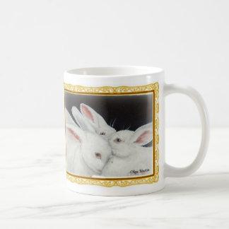 White Bunny Trio collection Basic White Mug