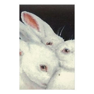 White Bunny Trio collection Stationery
