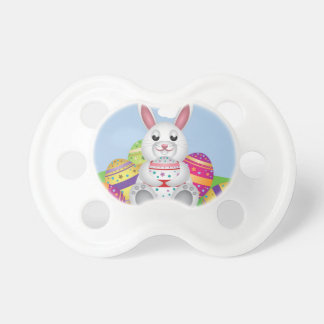 White bunny with Easter eggs 2 Dummy