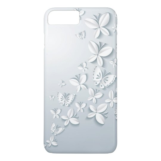 White Butterflies Barely There iPhone 7 Plus Case