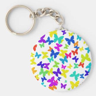 White Butterflies Keychain