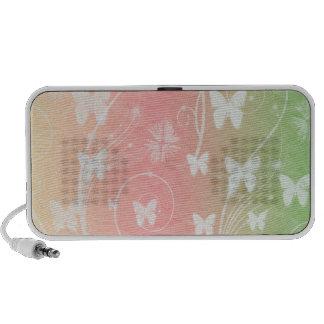 WHITE BUTTERFLIES ON PASTELS MP3 SPEAKER