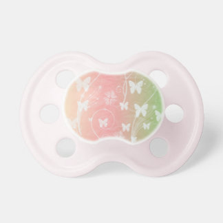 WHITE BUTTERFLIES ON PASTELS Pacifier