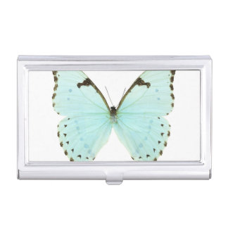 White butterfly business card holder