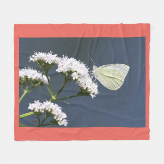 White Butterfly Fleece Blanket
