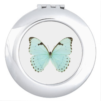 White butterfly mirrors for makeup