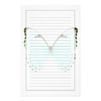 White butterfly stationery
