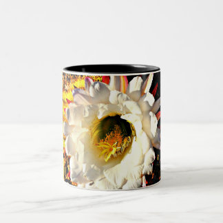 White Cactus Flower Coffee Cup