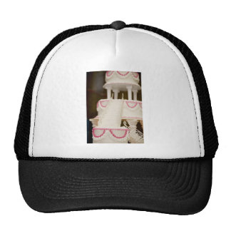 White Cake Mesh Hats
