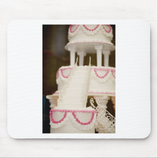 White Cake Mouse Pad