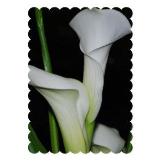 White Calla Lilies Custom Invite