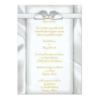White Calla Lilly Invitations