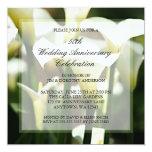 White Calla Lily 50th Wedding Anniversary Invite