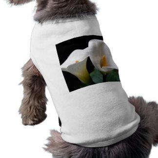White Calla Lily Flower Dog Shirt