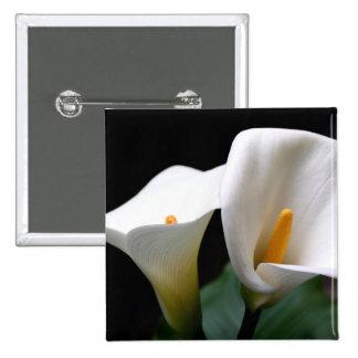 White Calla Lily Flower  Square Pin