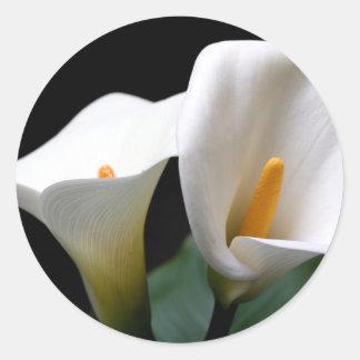 White Calla Lily Flower Sticker