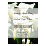 White Calla Lily Wedding Announcements