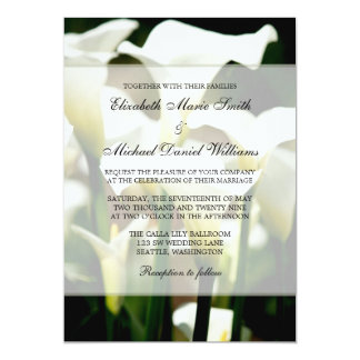 White Calla Lily Wedding Card