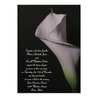 White Calla Lily Wedding Invitations