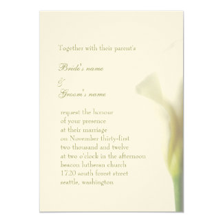 White Calla Wedding Invitation