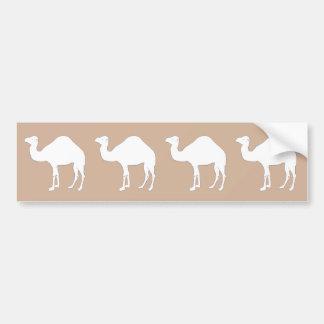 White Camel Bumper Sticker