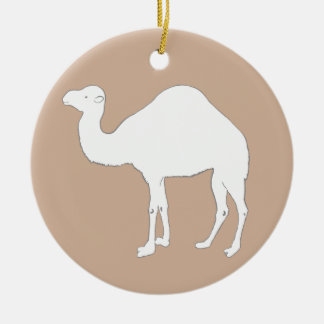 White Camel Christmas Ornament