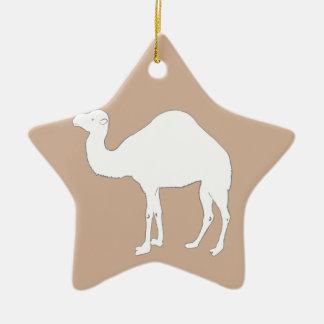 White Camel Christmas Ornament