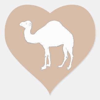 White Camel Heart Sticker