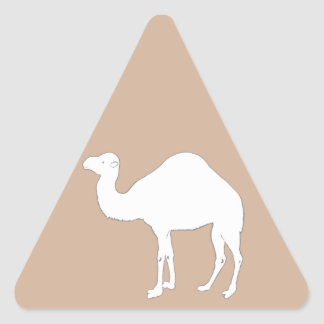 White Camel Triangle Sticker