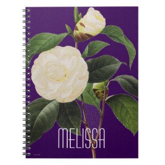 White Camellia, 1833 Spiral Notebooks