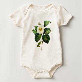 White Camellia by Pierre Joseph Redoute Baby Bodysuit