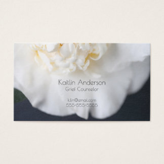 White camellia flower business card