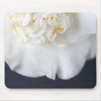 White camellia flower mouse mat