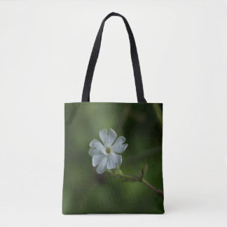 White Campion Wildflower Floral Tote Bag