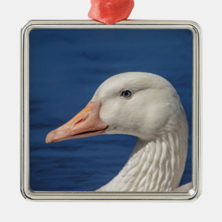 White Canadian Goose Christmas Ornament