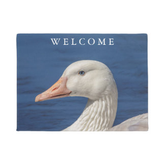 White Canadian Goose Doormat