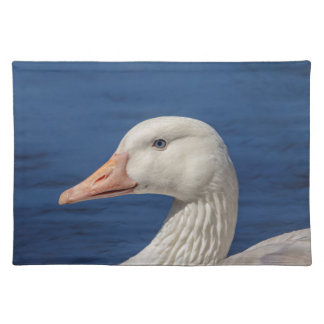 White Canadian Goose Placemat