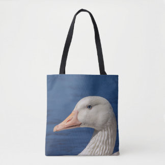 White Canadian Goose Tote Bag