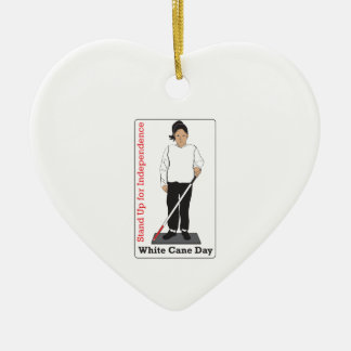 White Cane Day Christmas Ornament