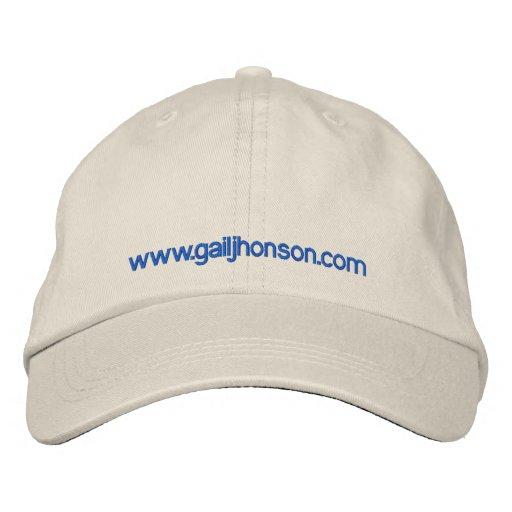 White cap embroidered baseball cap