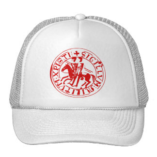 White cap seal of the temple trucker hat