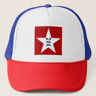 WHITE CAP TRUCKER ROYAL   DESIGN   THE USA
