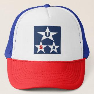 WHITE CAP TRUCKER ROYAL NEW DESIGN THE USA