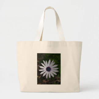 WHITE CAPE DAISY FLOWER LARGE TOTE BAG