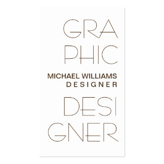WHITE CARD SIMPLE ELEGANT GRAPHICAL DESIGN PACK OF STANDARD BUSINESS CARDS