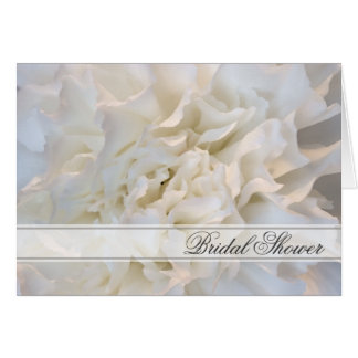 White Carnation Floral Bridal Shower Invitation Greeting Card