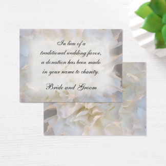 White Carnation Floral Wedding Charity Card