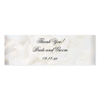 White Carnation Floral Wedding Favor Tags Pack Of Skinny Business Cards